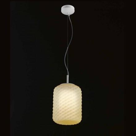 Selene Domino lampada a sospensione in vetro soffiato Ø21 H 27/140 cm