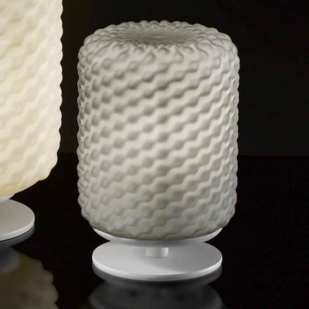 Selene Domino lampada da tavolo Ø15 H22cm,vetro soffiato fatta a mano