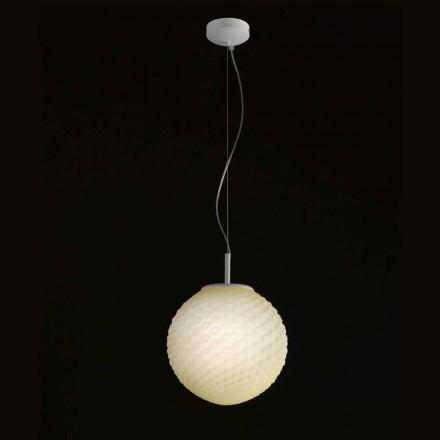 Selene Domino lampadario in vetro soffiato fatto a mano Ø27 H 27/140cm