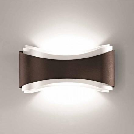 Selene Ionica lampada a muro made in Italy,40x12H20cm, acciaio e vetro