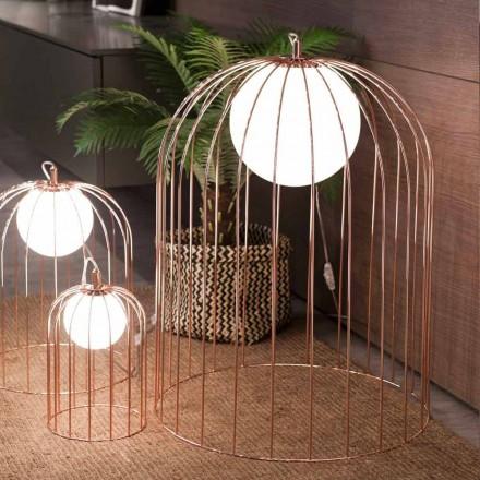 Selene Kluvì lampada da tavolo di design in vetro soffiato Ø54 H 70cm