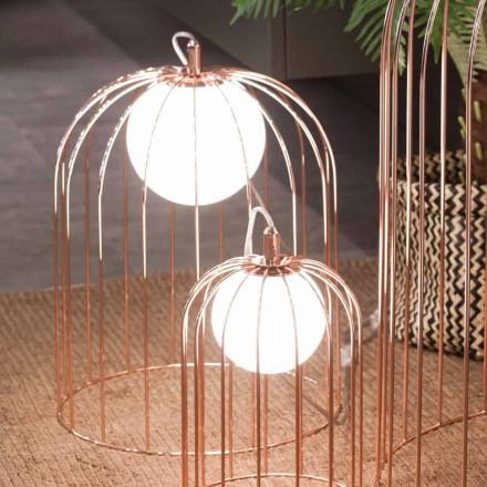 Selene Kluvì lampada da tavolo moderna in vetro soffiato  Ø33 H41cm