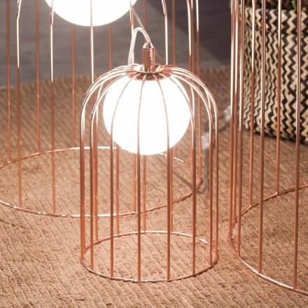 Selene Kluvì lumetto in vetro soffiato e metallo Ø19 H 27cm
