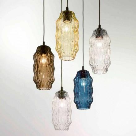 Selene Origami lampada a sospensione in vetro soffiato Ø16 H 30/140cm
