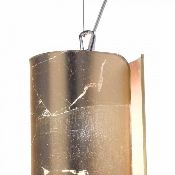 Selene Papiro lampada a sospensione moderna in cristallo Ø15 H 125cm