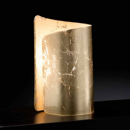 Selene Papiro lampada da tavolo in cristallo made in Italy 15x14xH25cm