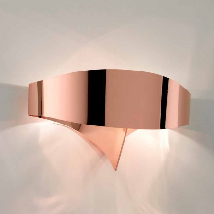 Selene Scudo lampada a parete galvanico design moderno, made in Italy