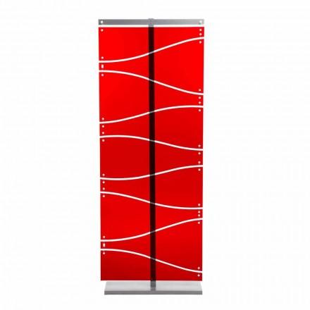 Separè design moderno in metacrilato rosso o satinato Evelyn