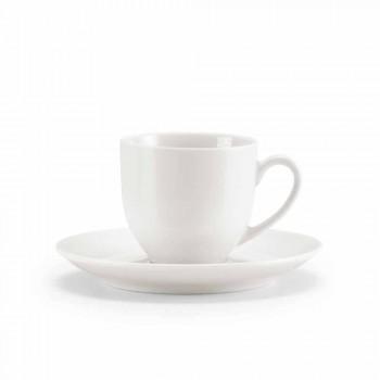 Servizio 18 Tazze da Caffè The con Zuccheriera e Vassoio in Porcellana - Lucerna