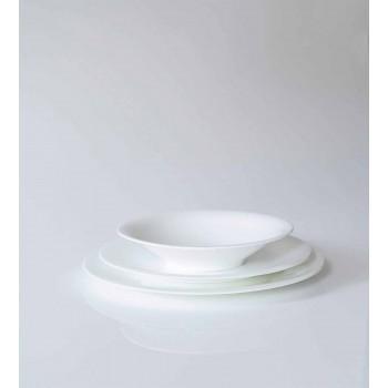 Servizio 24 Piatti Eleganti in Porcellana Bianca Design da Pranzo - Doriana