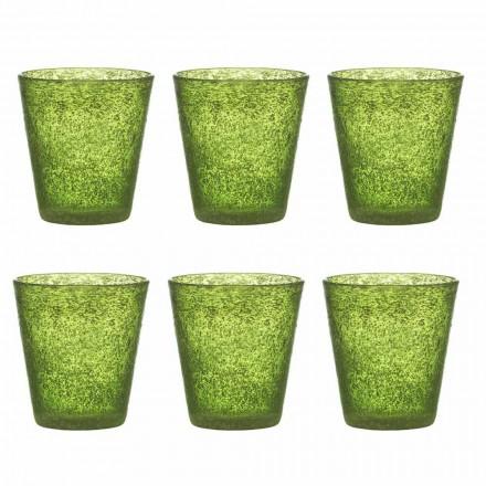 Servizio 12 Bicchieri Colorati in Vetro Soffiato dal Design Moderno - Pumba