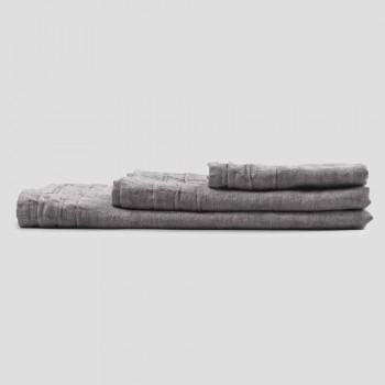 Servizio Asciugamani da Viso, Ospite e Telo Bagno in Lino 3 Pezzi - Nuori