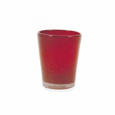 Servizio Bicchieri Acqua 6 Pezzi di Vetro Soffiato e Colorato - Yucatan Folk