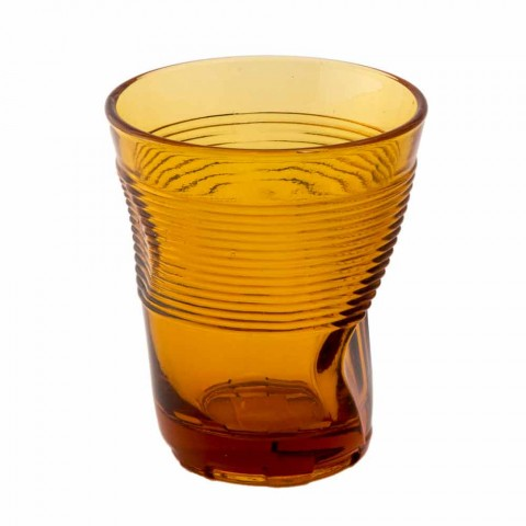 Servizio Bicchieri Acqua in Vetro Colorato 6 Pezzi Design Particolare - Sarabi