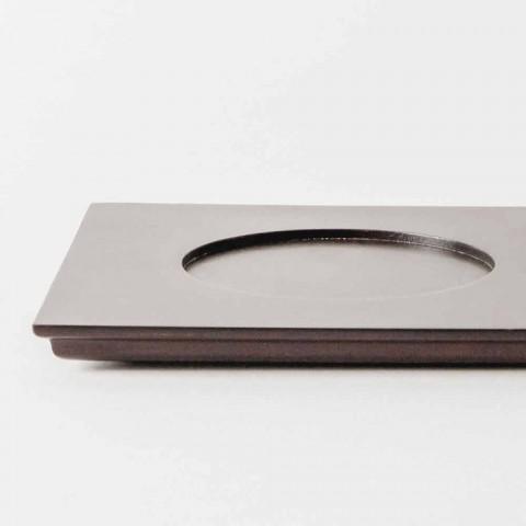 Servizio Coppette con Vassoio in Legno Design Moderno Elegante 9 Pezzi - Flavia