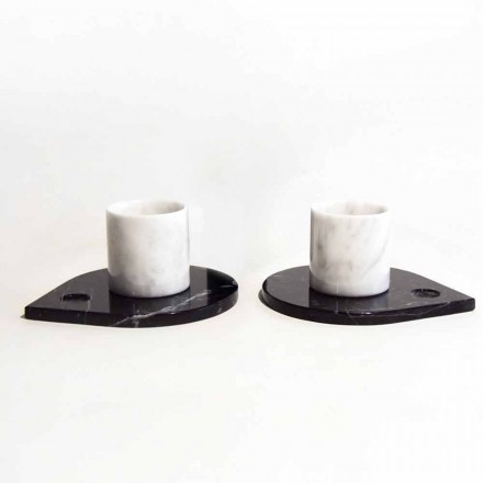 Servizio da Caffè in Marmo di Carrara e Marquinia Moderno Made in Italy - Garda