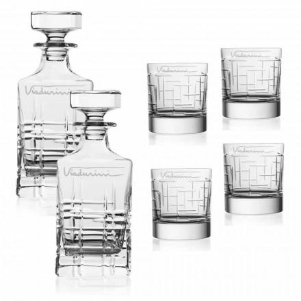Servizio Whisky Cristallo, Personalizzabile con Logo, 6 Pz Linea Lusso - Aritmia