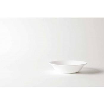 Servizio Piatti a Servire 4 Pezzi in Porcellana Bianca di Design - Samantha