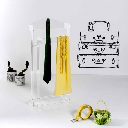 Servomuto design moderno in plexiglass trasparente Mose, made in Italy