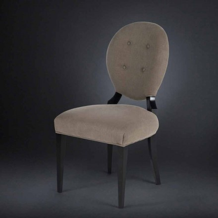 Set 2 sedie imbottite con schienale lavorato boutonné Sophia
