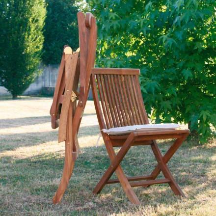 Sedia pieghevole in teak da giardino
