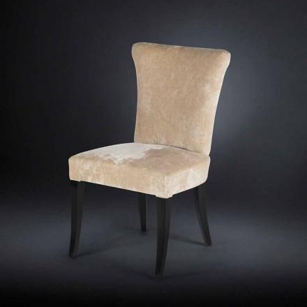 Set 2 sedie stile belle époque imbottite color Ecru Dita