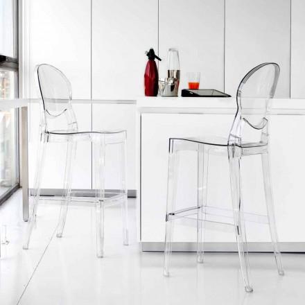 Sgabello moderno in policarbonato trasparente elegante Bosa