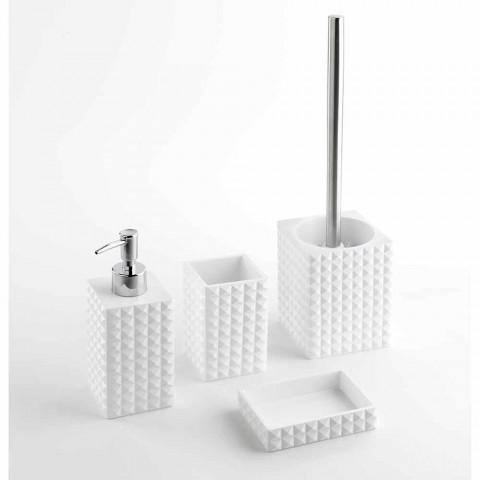 Accessori Bagno Moderno.Insieme Di Accessori Bagno In Resina Bianco O Sabbia Effetto