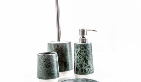 Set Da Bagno Moderno : Set accessori di design per bagno in marmo screziato calacatta bombei
