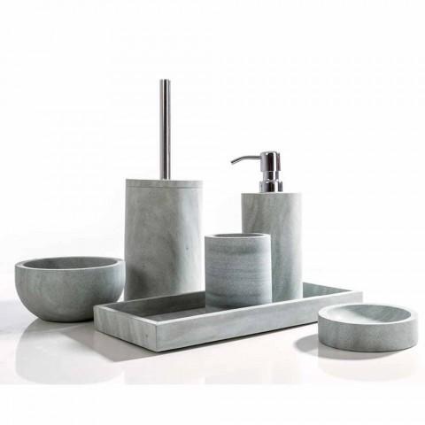 Accessori Bagno In Pietra.Set Accessori Da Bagno Di Design In Pietra Grigia Montale
