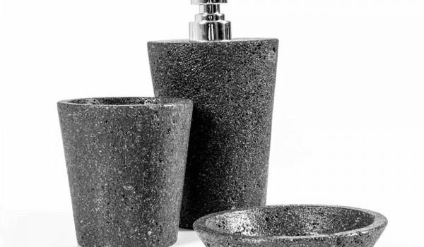 Set Da Bagno Moderno : Set accessori da bagno di design in pietra lavica montiano