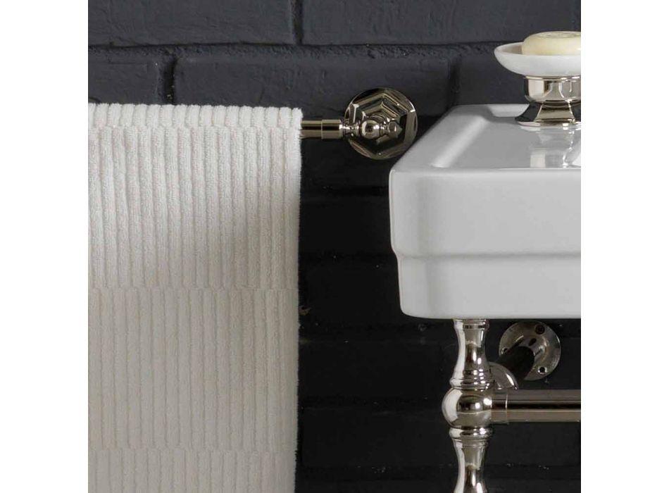 Set bagno con consolle doppia in ceramica bianca su struttura Linear