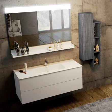 Composizione mobili da bagno moderni a sospensione made in Italy, Bari