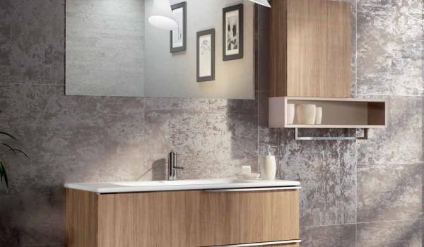 Composizione mobili da bagno sospesa di design in ecolegno cesena