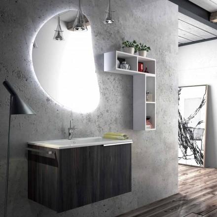 Composizione mobili da bagno sospesa di design made in Italy, Triste