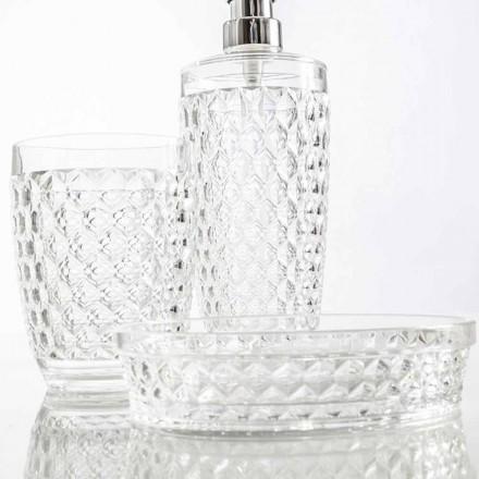 Set per bagno dispenser+bicchiere+portasapone moderno Netro