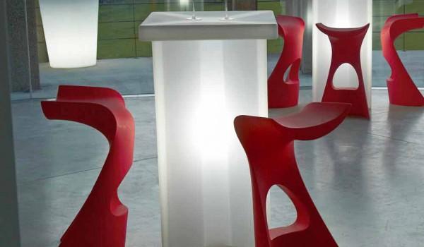 Sgabello alto da giardino interno design moderno slide koncord