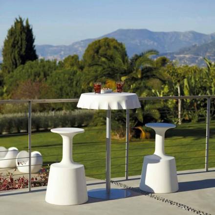 Sgabello bar alto per esterno Slide Drink moderno realizzato in Italia