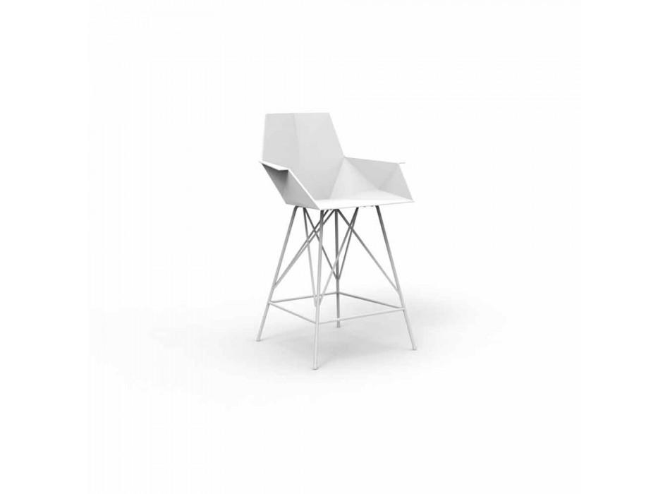 Sgabello con braccioli da giardino Faz Vondom, H 102 cm,design moderno