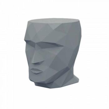 Sgabello da esterno a forma di volto di design moderno Adan by Vondom