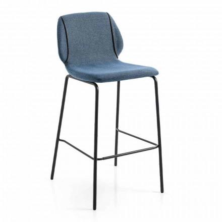 Sgabello da Soggiorno Design Moderno Elegante in Tessuto con Bordino - Scarat