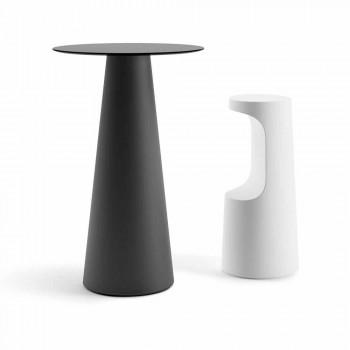 Sgabello di Design Alto in Polietilene Opaco da Esterno Made in Italy - Forlina