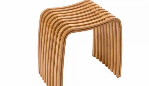Sgabello da bagno moderno in bamboo curvato a caldo gorizia