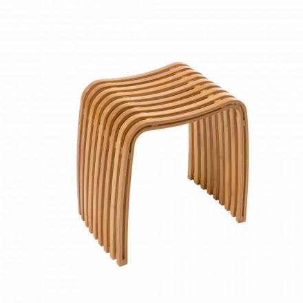 Sgabello di design da bagno in bamboo curvato a caldo Gorizia