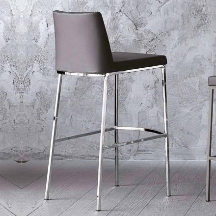 Sgabello di Design in Ecopelle per Cucina o Sala da Pranzo H 80 cm - Celine
