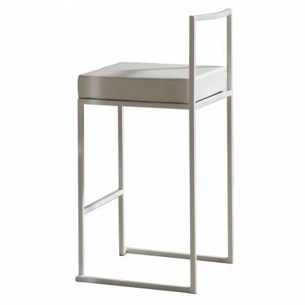 Sgabello Fisso in Ecopelle, Design Moderno H 65 cm- Alina
