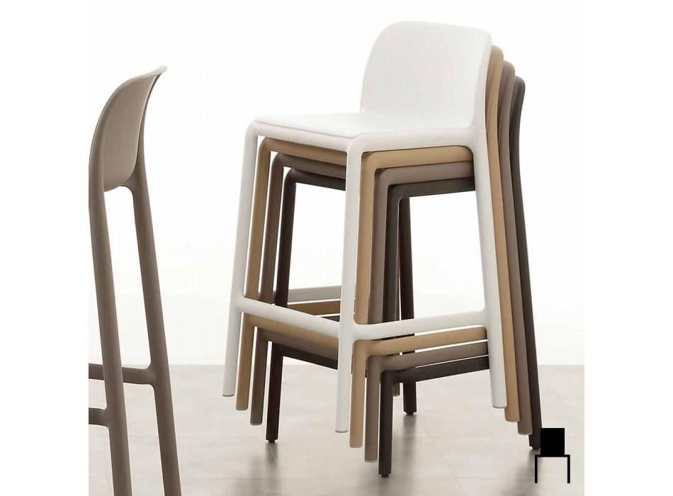 Sgabello resina H65 e fiberglass design moderno prodotto Italia Grosseto