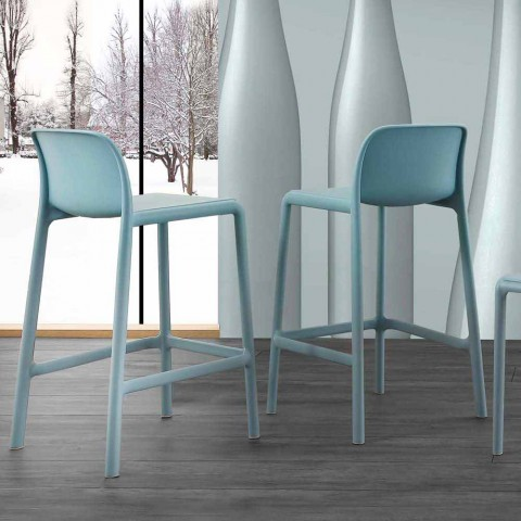 Sgabelli Design Da Cucina.Sgabello In Resina Con Fiberglass Dal Design Moderno Grosseto