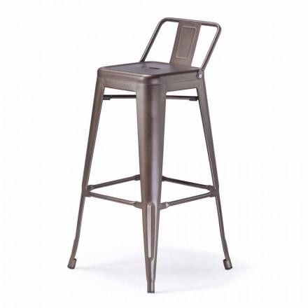 Sgabello Stile Industriale in Metallo Seduta H 65 cm- Giuditta