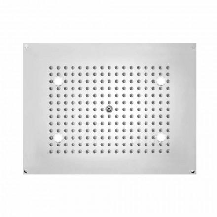 Bossini Soffione doccia   rettangolare con un getto e luci LED